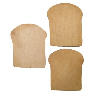 Vintage Artisan Bread Boards, S/3 For Sale