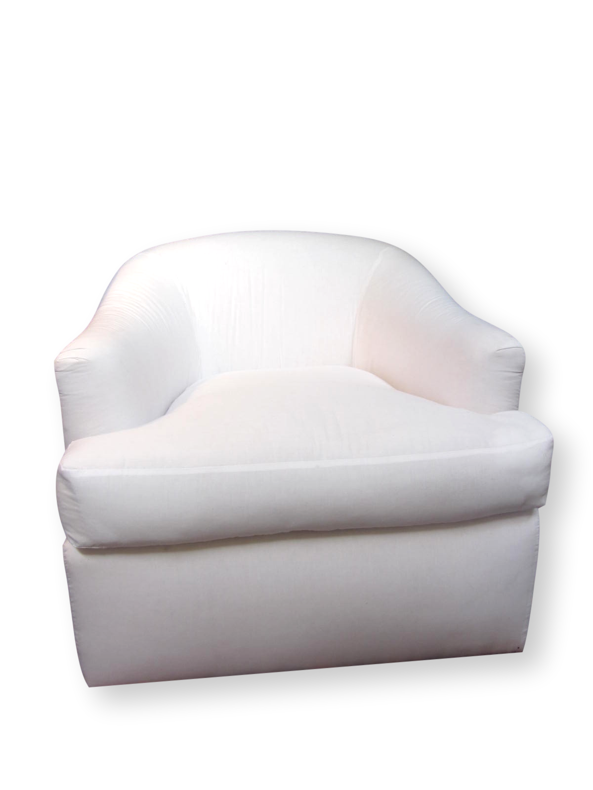 Shown here in a simple white muslin these A. Rudin. Contemporary A. Rudin Swivel Chairs ...  sc 1 st  Chairish & A. Rudin Swivel Chairs u0026 Ottoman | Chairish