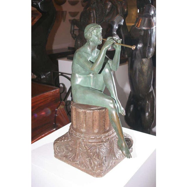 Art Deco Art Deco Bronze Sculpture by Maurice Guiraud Riviere For Sale - Image 3 of 10
