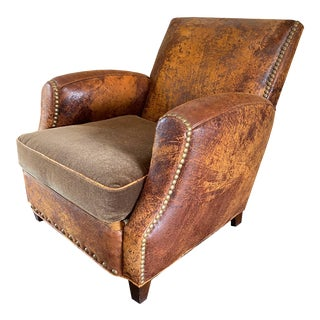 Crate & Barrel Hair on Hide Lounge Chair For Sale