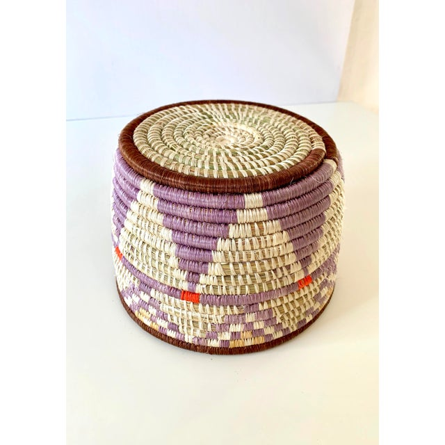 Tribal Style Handwoven Planter/Basket For Sale - Image 9 of 10