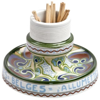 Vintage Bruxelles French Porcelain Match Striker