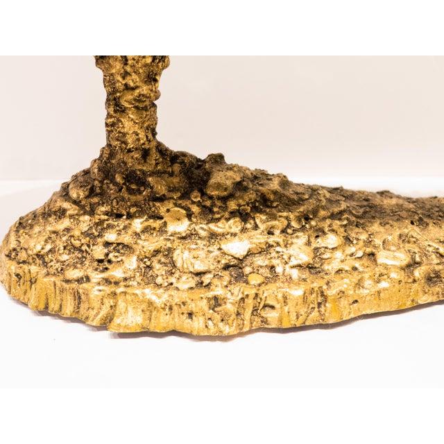 Gold James Bearden Steel Candelabra For Sale - Image 8 of 9