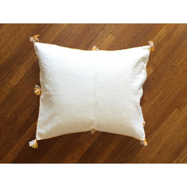 White Moroccan Sabra Cactus Silk Pillow Cover - Image 4 of 10