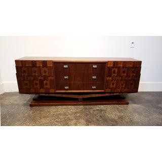 Mid Century Modern Brutalist Floating Credenza or Dresser Preview