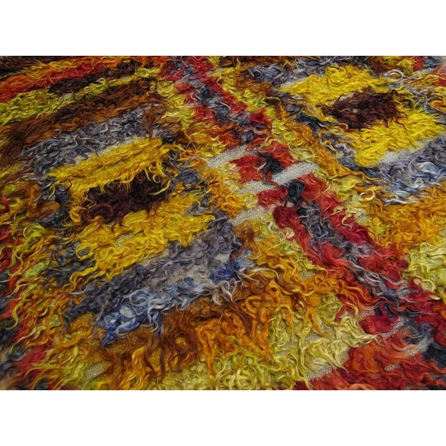 1950s Four Squares, Angora Tulu Rug For Sale - Image 5 of 10