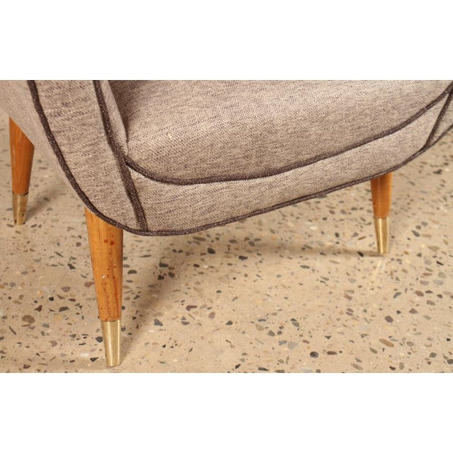 Mid 20th Century Pair of Italian Mid-Century Modern Chairs For Sale - Image 5 of 6