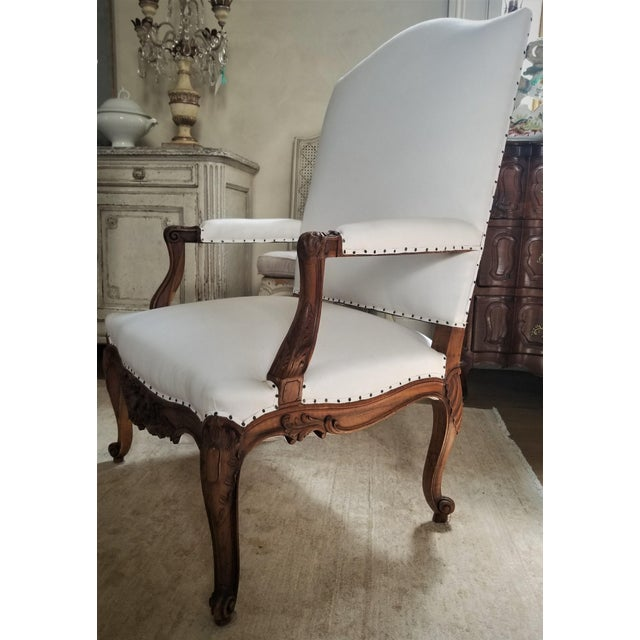 Mid 19th Century 19th C. Walnut Louis XV Armchairs Pair For Sale - Image 5 of 12