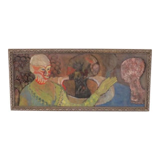 Early Boston Figurative Expressionist Painting by Polly Doyle Dated 1966 For Sale
