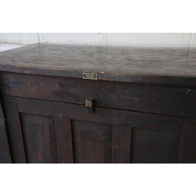 Antique Belgian Dark Oak Gothic Bar Cabinet, Circa 1850s For Sale - Image 10 of 11