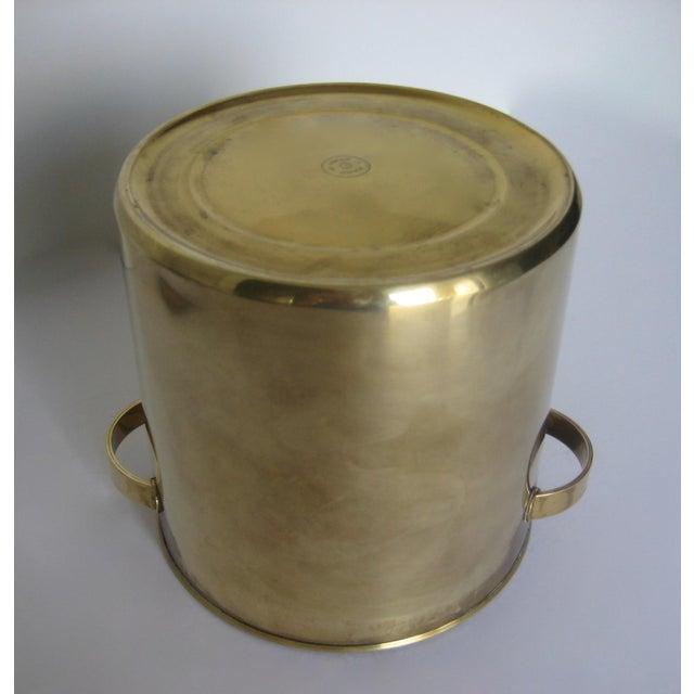 Mid-Century Italian Brass & Teak Ice Bucket - Image 11 of 13