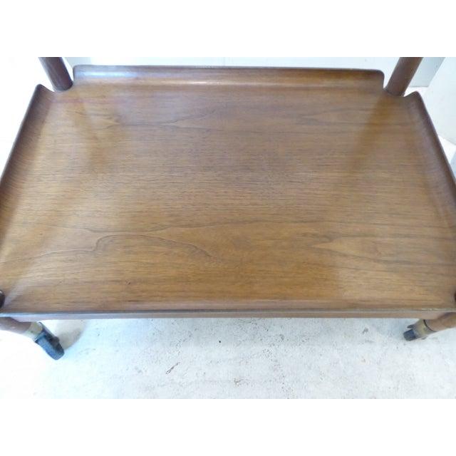 Wood Vintage Modern John Stuart Hardwood Side Table For Sale - Image 7 of 8