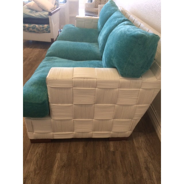 Contemporary Angelo Donghia Vintage Block Island Sofa For Sale - Image 3 of 5