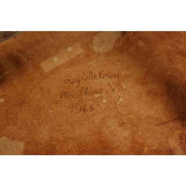 Roy Sheldon Studio Craft Occasional Table For Sale - Image 5 of 7