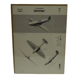 """Vintage WWII Aircraft """"Spitfire"""" Recognition Poster"""