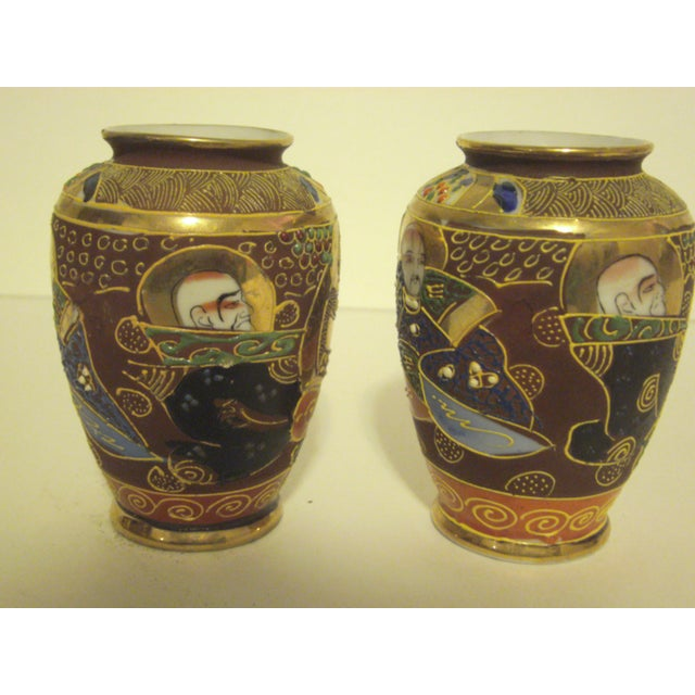 Satsuma Vases & Ginger Jars - Three Pair - Image 8 of 11