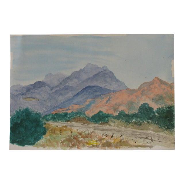 Santa Fe Spring Watercolor For Sale