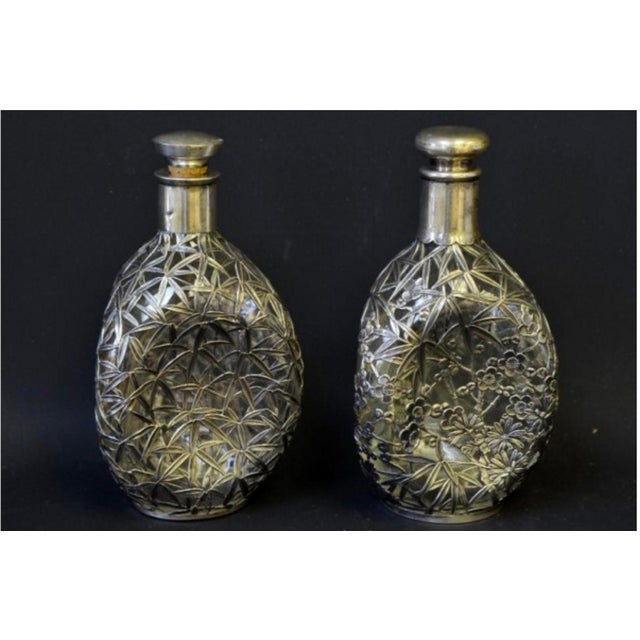 Silver Overlay Pinch Decanters - A Pair - Image 4 of 7