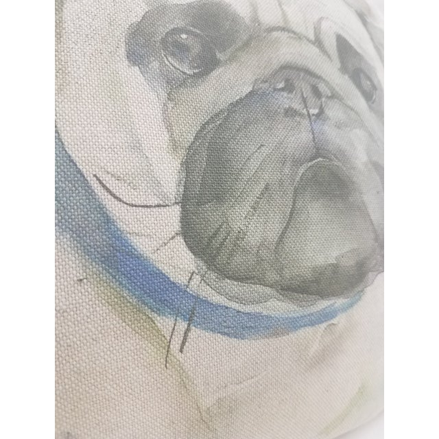 2020s Pug Pillow - Made in Wales, United Kingdom For Sale - Image 5 of 9