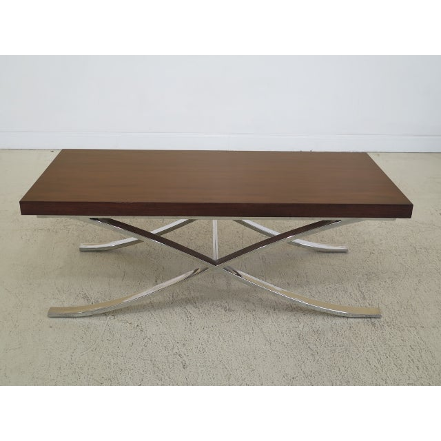 Mid Century Modern Chrome Base Coffee Table For Sale - Image 9 of 9