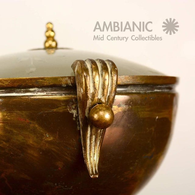 Brass Brass & Glass Urn Table Lamp For Sale - Image 7 of 7