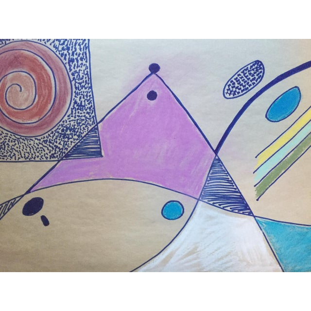 Jerry Opper Bay Area Abstract Expressionism Drawing 1950s For Sale - Image 4 of 8
