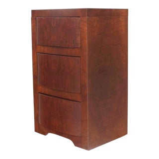 Three-Drawer Art Deco End Table or Nightstand For Sale