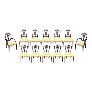 Baker Furniture Historic Collection Shield Back Dining Chairs - Set of 12 For Sale