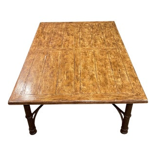 Rustic Bausman & Company Coffee Table For Sale