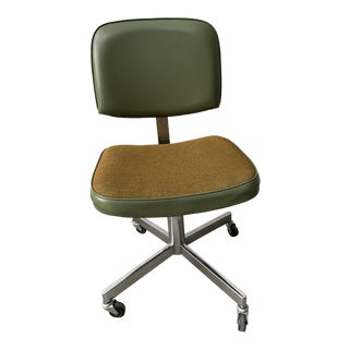 1960s Frank Doerner Faultless Rolling Swivel Office Chair For Sale