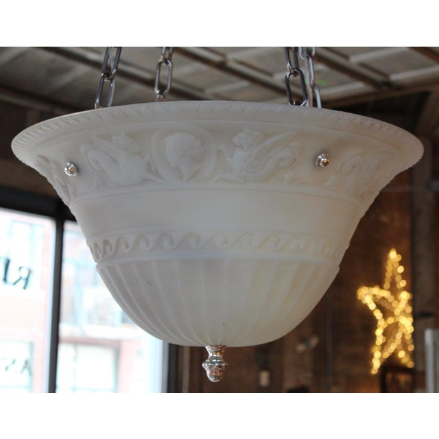 Antique Classical Glass Bowl Fixture For Sale - Image 10 of 10