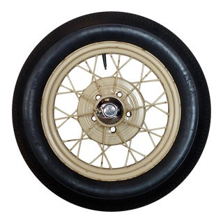 Ford Model a Original 1920/30s Wire Spoke Wheel W/Insa Tire For Sale
