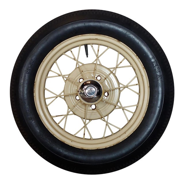 Ford Model a Original 1920/30s Wire Spoke Wheel W/Insa Tire For Sale