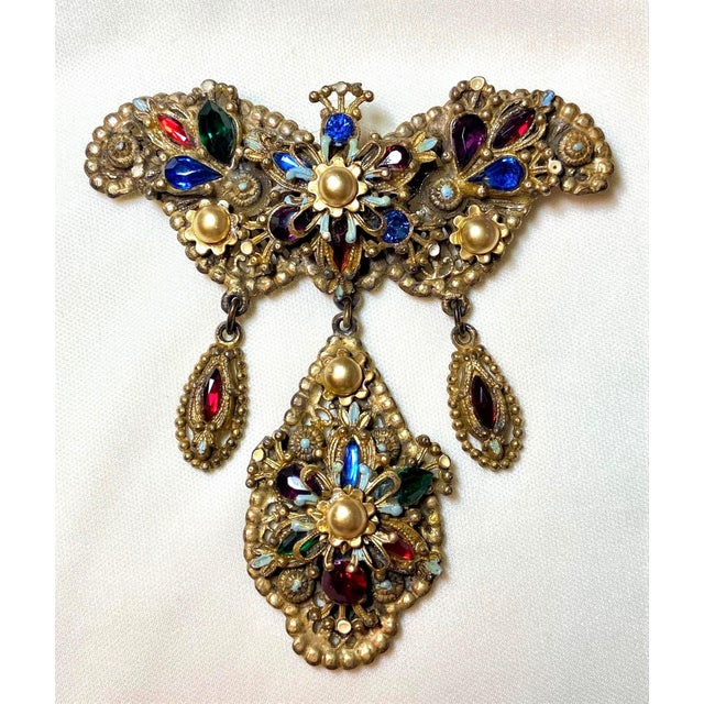 1940s Thief of Bagdad Jeweled Brooch For Sale - Image 9 of 9