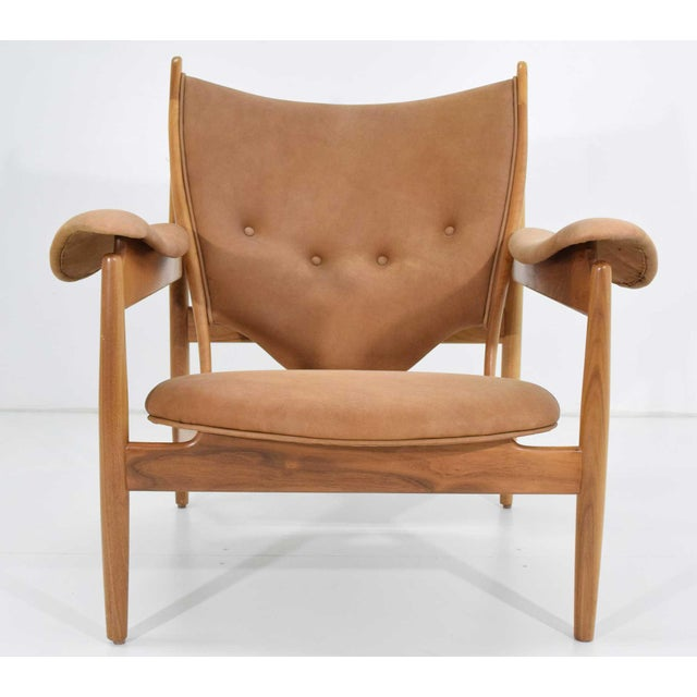 Mid-Century Modern Finn Juhl Chieftain Chair and Ottoman by Baker For Sale - Image 3 of 13