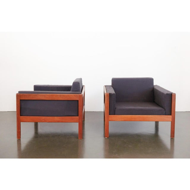 Danish Modern Upholstered Teak Chairs - a Pair For Sale - Image 9 of 10