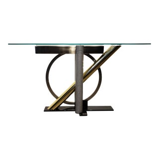 1980s Geometric Console Table by Kaizo Oto for Design Institute For Sale