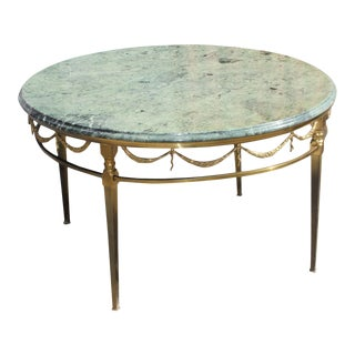1940s Vintage French Maison Jansen Round Coffee Table For Sale