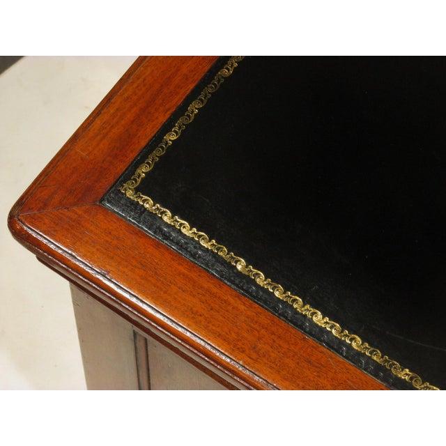 1900s Edwardian Partners Desk For Sale - Image 9 of 13