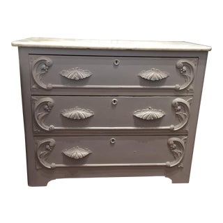 "Vintage ""Eve"" Marble Top Chest of Drawers"