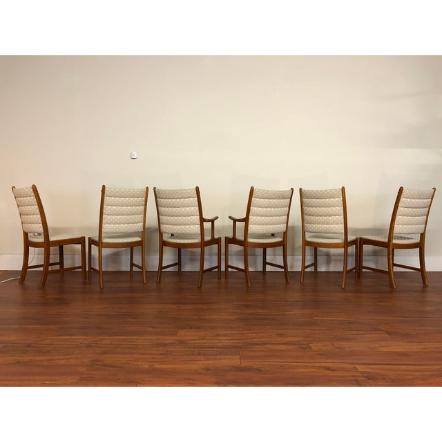 Uldum Møbelfabrik Johannes Andersen for Uldum Vintage Teak Dining Chairs - Set of 6 For Sale - Image 4 of 12