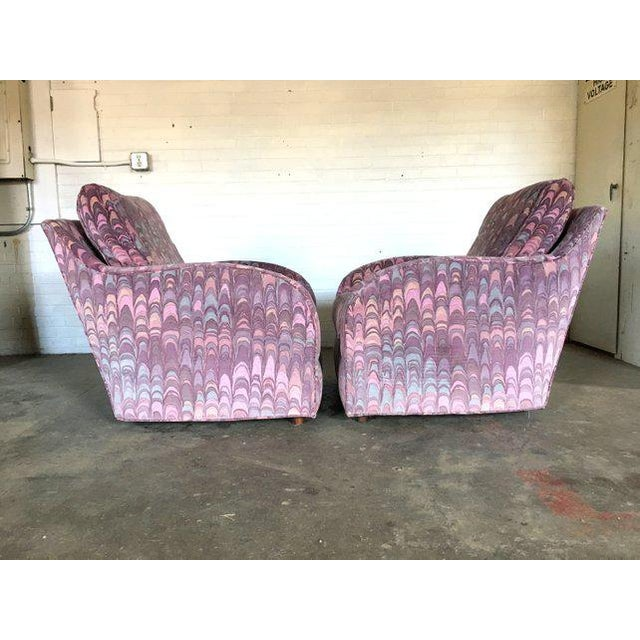 Mid-Century Modern Clyde Pearson Chairs and Ottomans in Jack Lenor Larsen Fabric - Set of 4 For Sale - Image 3 of 11