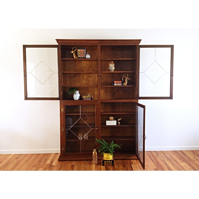 Vintage 1960s Custom Enclosed Bookcase - Image 3 of 6