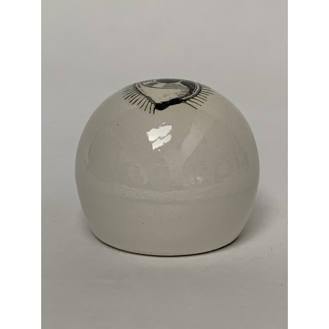 Mid-Century Modern Fornasetti Surrealist Ceramic Eyeball Paper Weight For Sale - Image 3 of 7