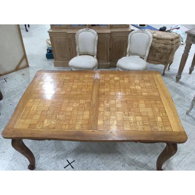 Country French Parquetry Top Dining TBle For Sale - Image 3 of 9