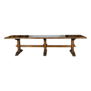 Antique Spanish Dining Trestle Table