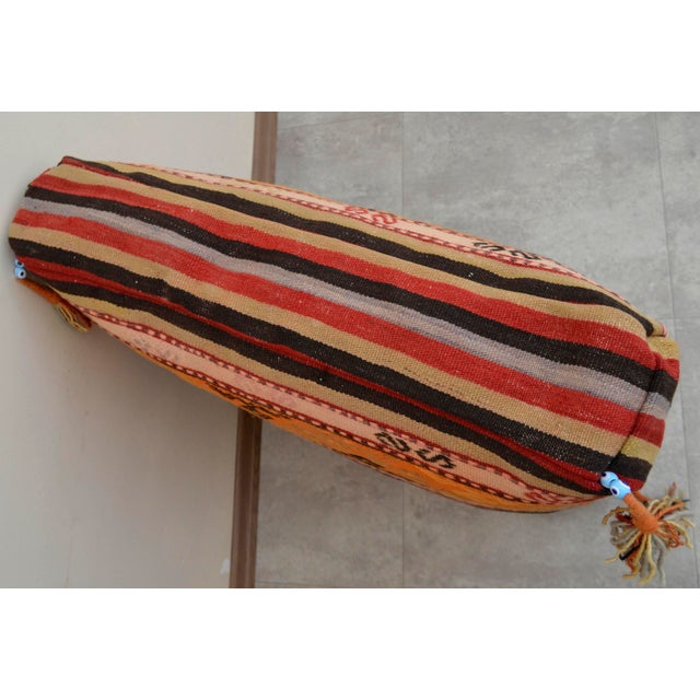 Turkish Hand Woven Floor Cushion Cover - 29″ X 29″ - Image 8 of 10