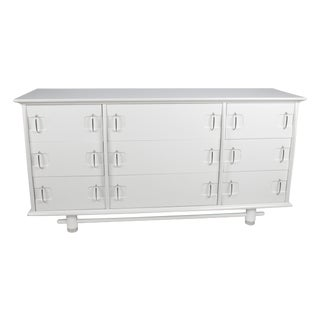 Kent Coffey White 9-Drawer Dresser For Sale