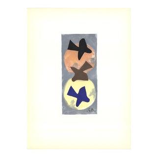 Georges Braque-les Oiseaux Xvii-115-1959 Lithograph