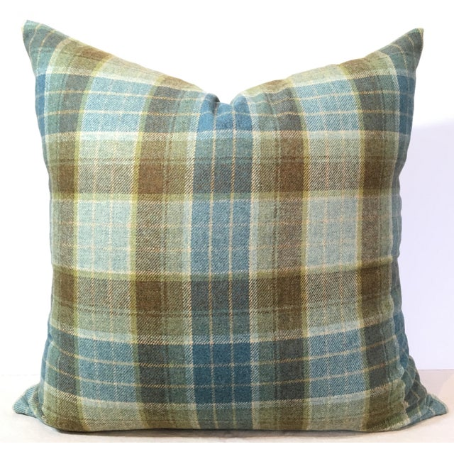 Tartan Plaid Wool Pillow Cover - Image 2 of 3